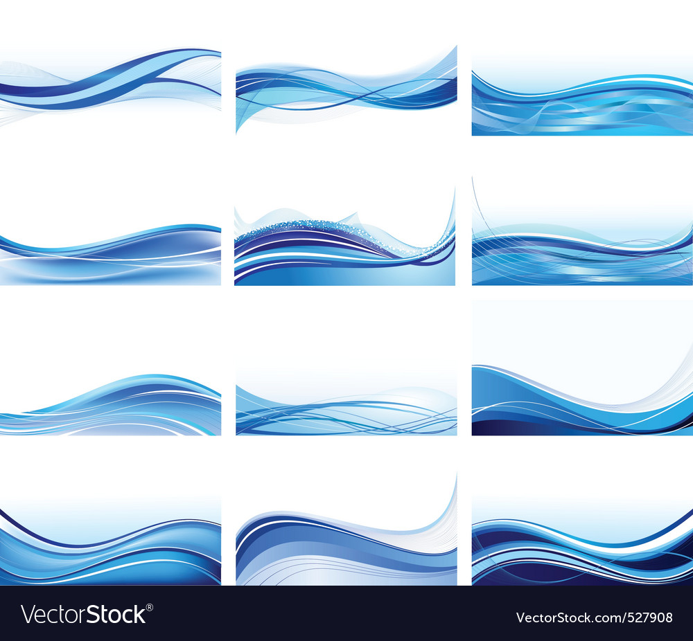 Abstract wave set