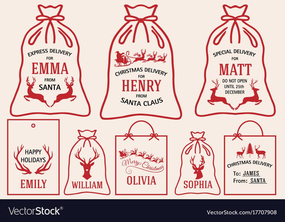 Christmas bags and tags set christmas bags and