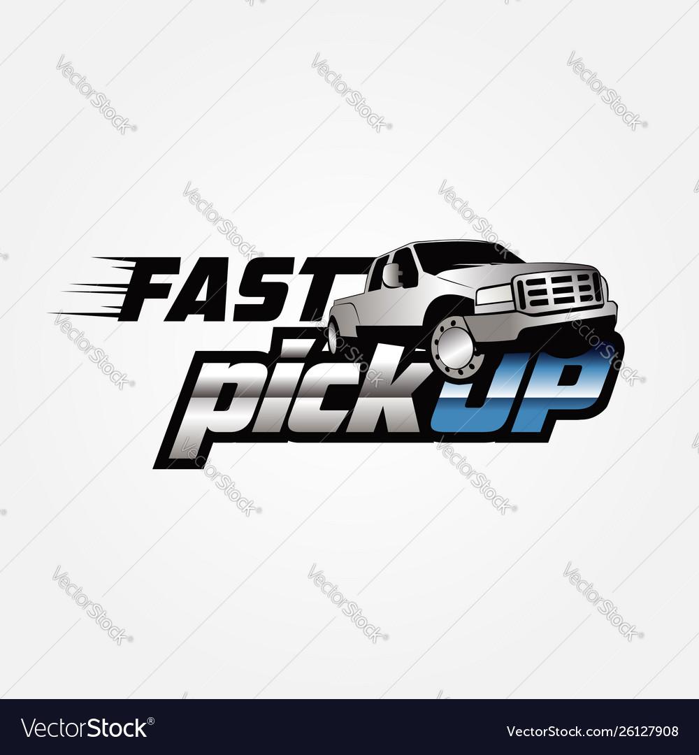 Fast pickup logo sign symbol icon