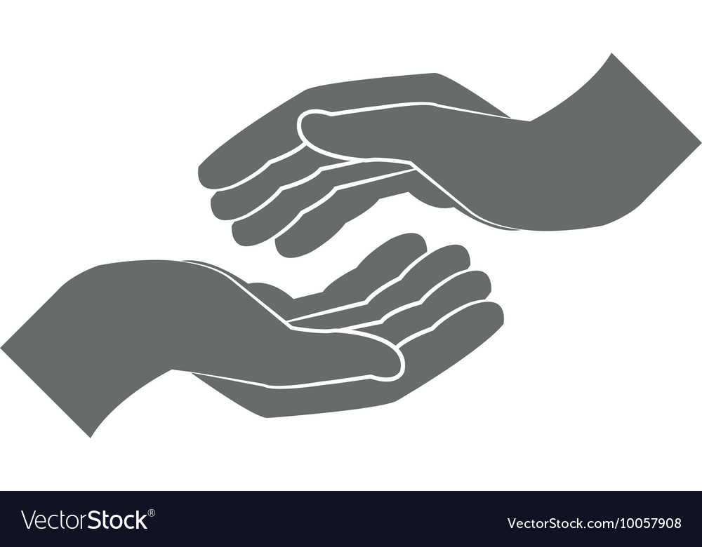 Open Hand Icon Royalty Free Vector Image