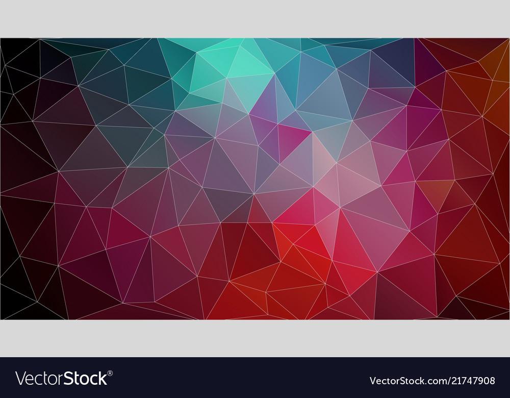 Retro Color Geometric Triangle Wallpaper