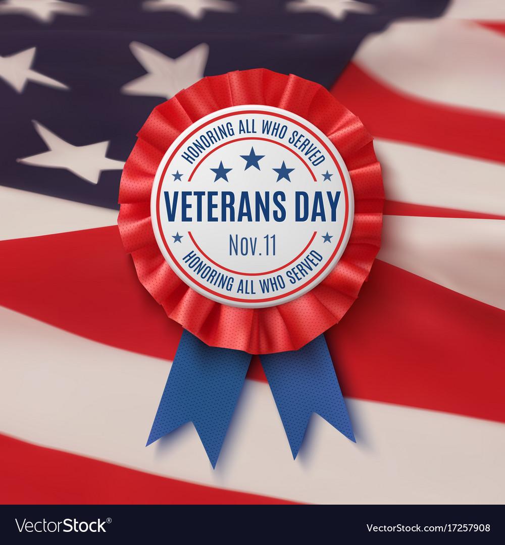 Veterans day badge