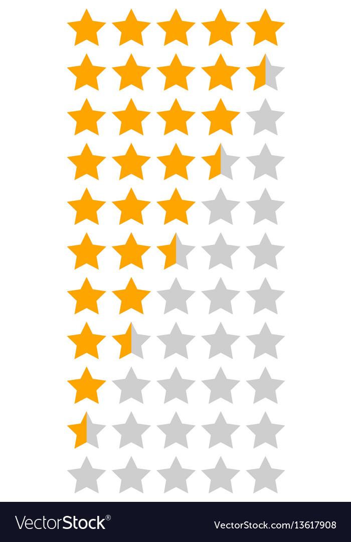 Yellow orange 5 star rating infographic