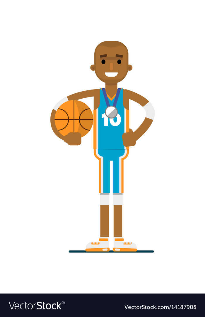 Young african man basketball player