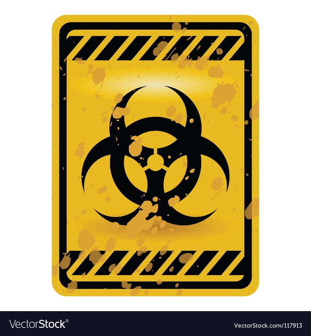 Biohazard Sign Royalty Free Vector Image Vectorstock
