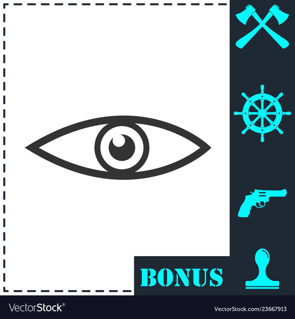 Eye icon flat