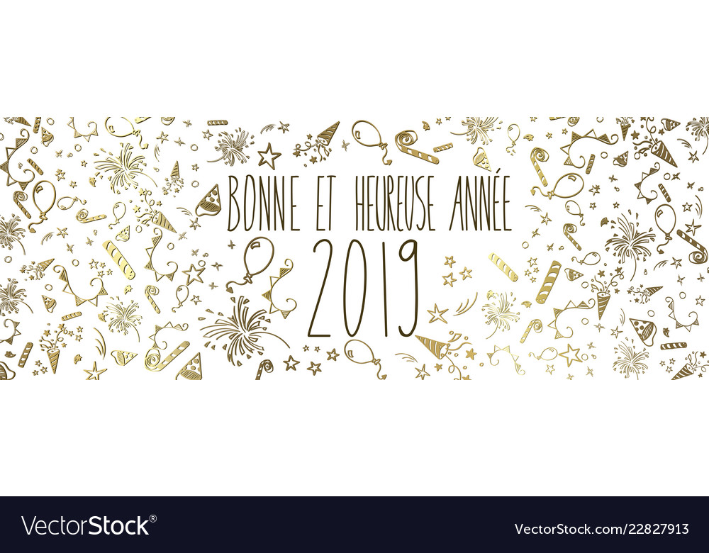 french happy new year 2019 vector image