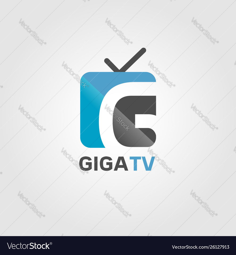 Giga internet channel tv logo sign symbol icon