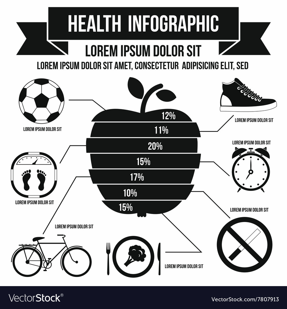 Health infographic simple style