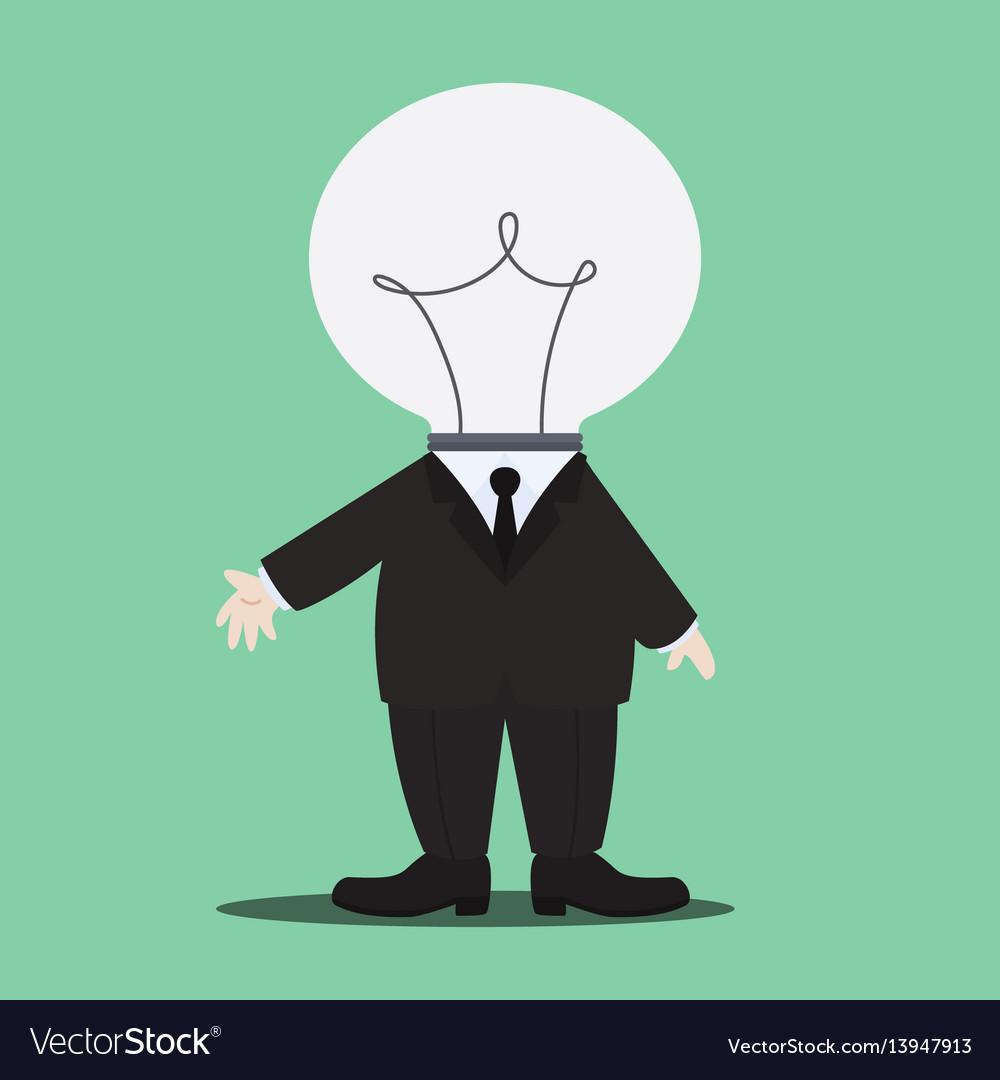 Idea man character vector image