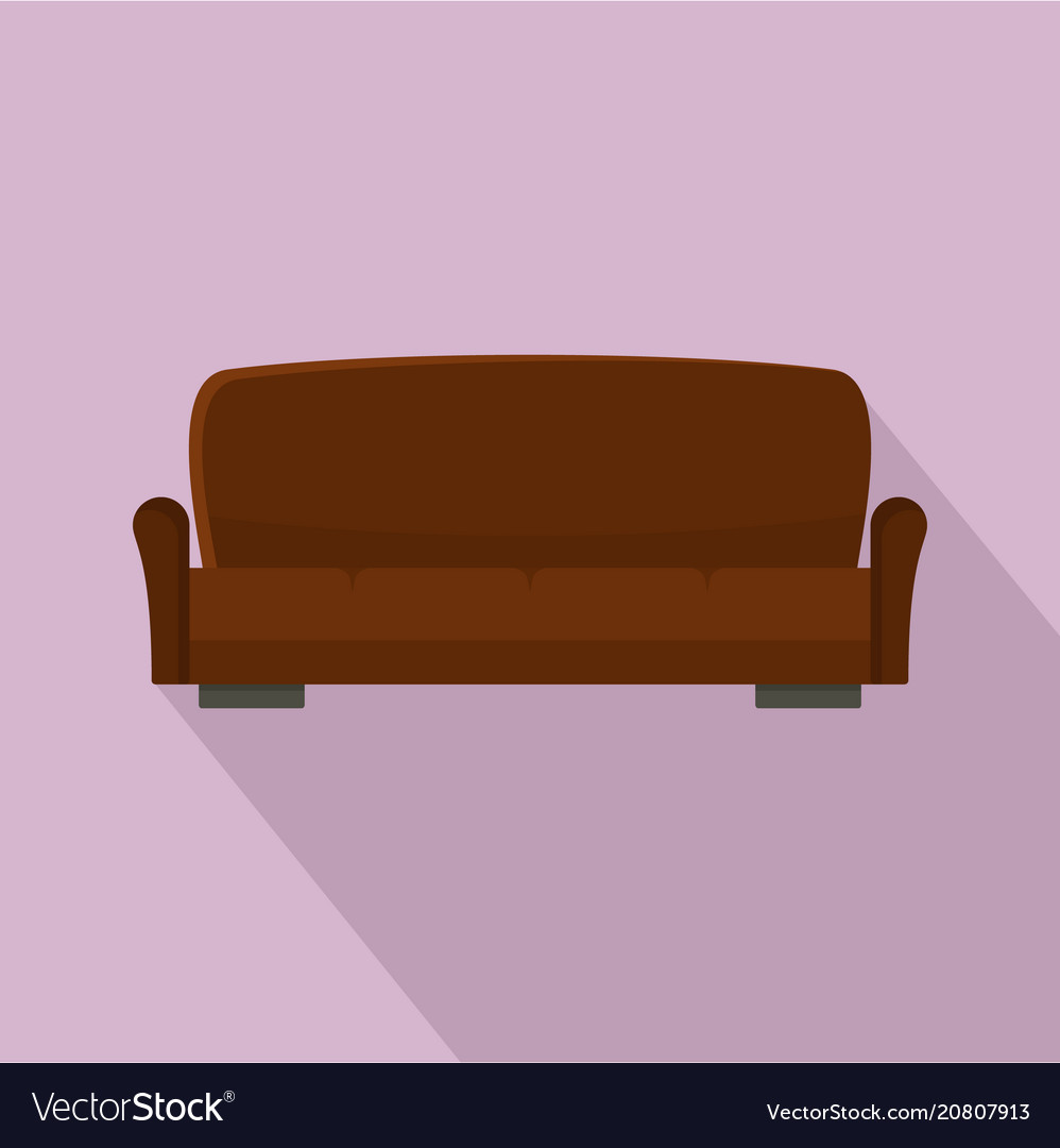 Lawson Sofa Icon Flat Style Vector Image