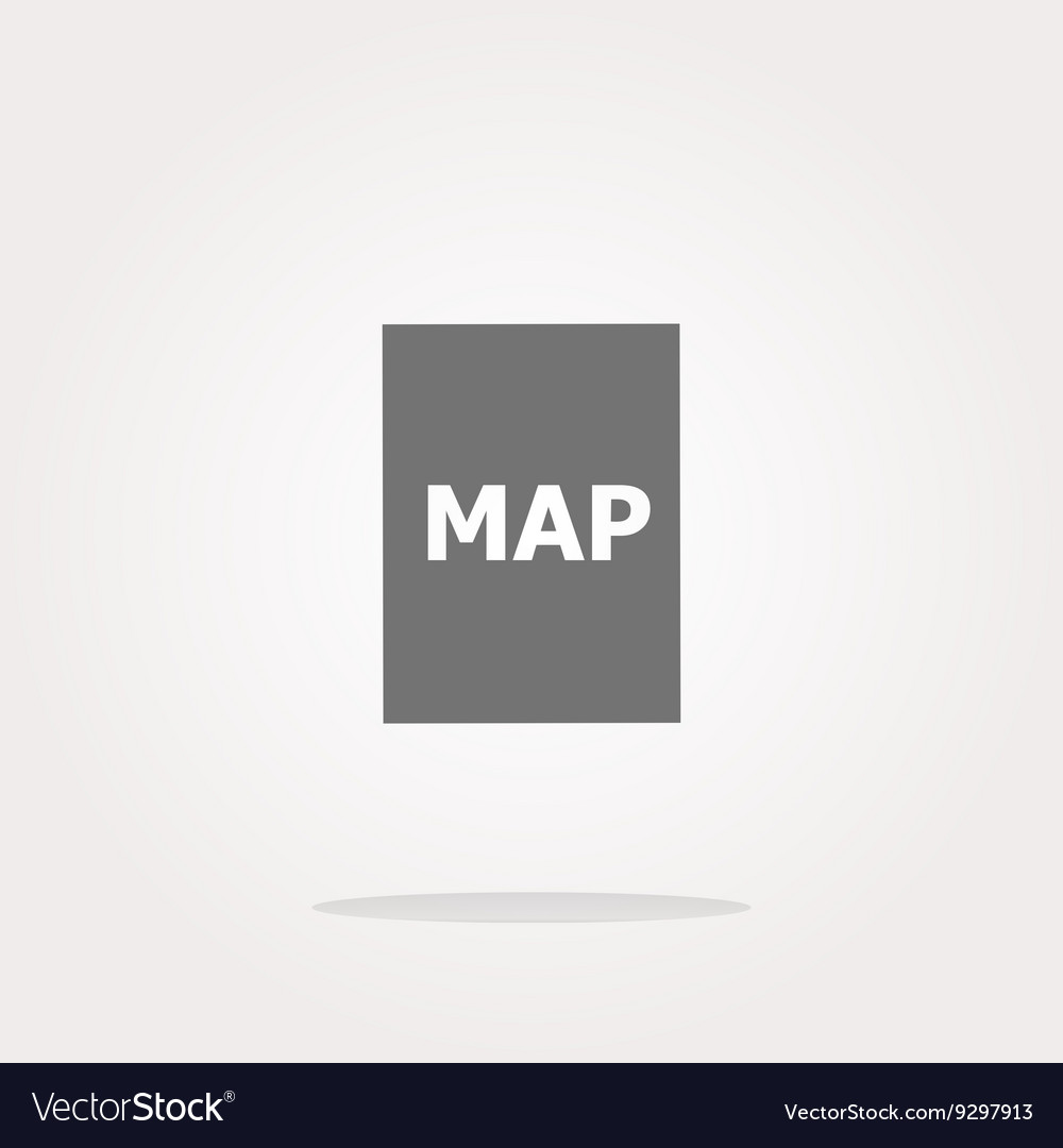Map icon web button with map
