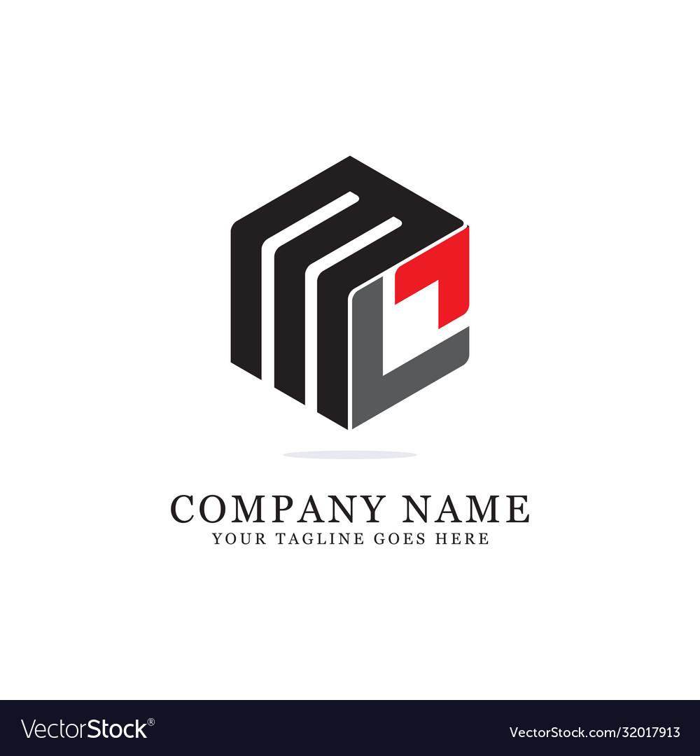Ml initial logo designs creative logo