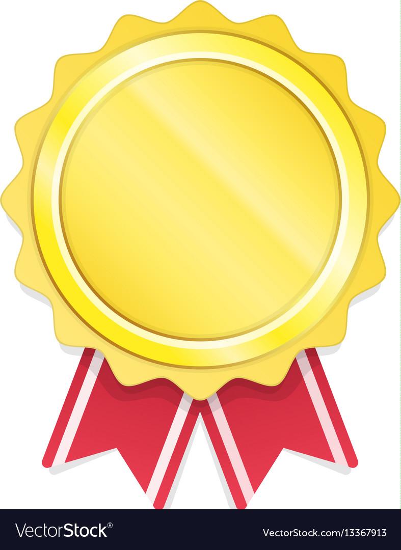 modern gold circle metal badge royalty free vector image  vectorstock