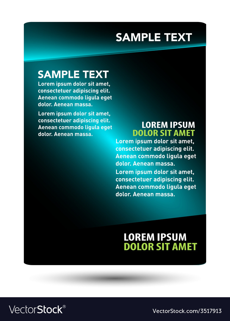 professional business flyer template brochure vector image