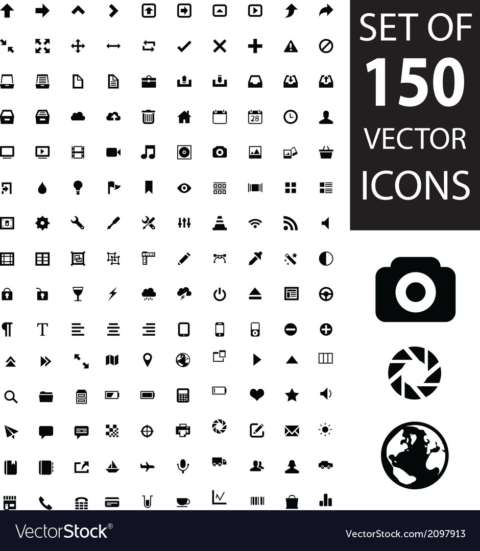 Set of 150 icons