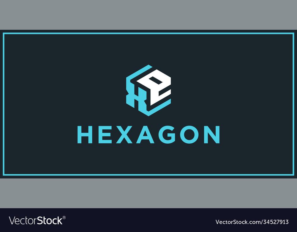 Xe hexagon logo design inspiration