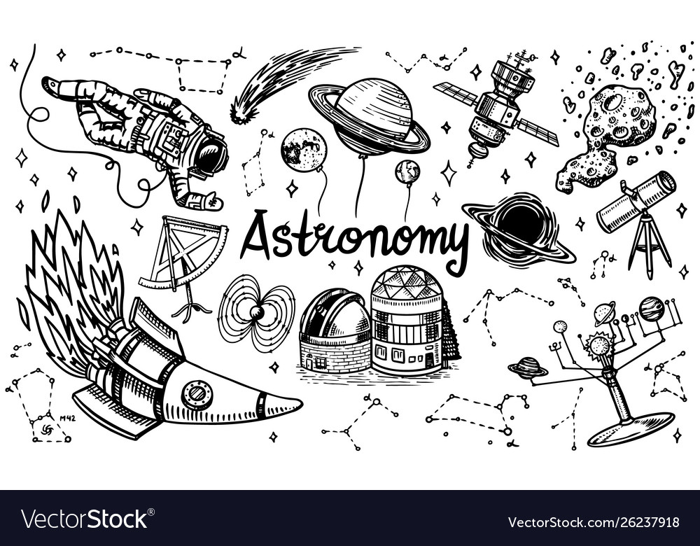 Astronomy background in vintage style space and