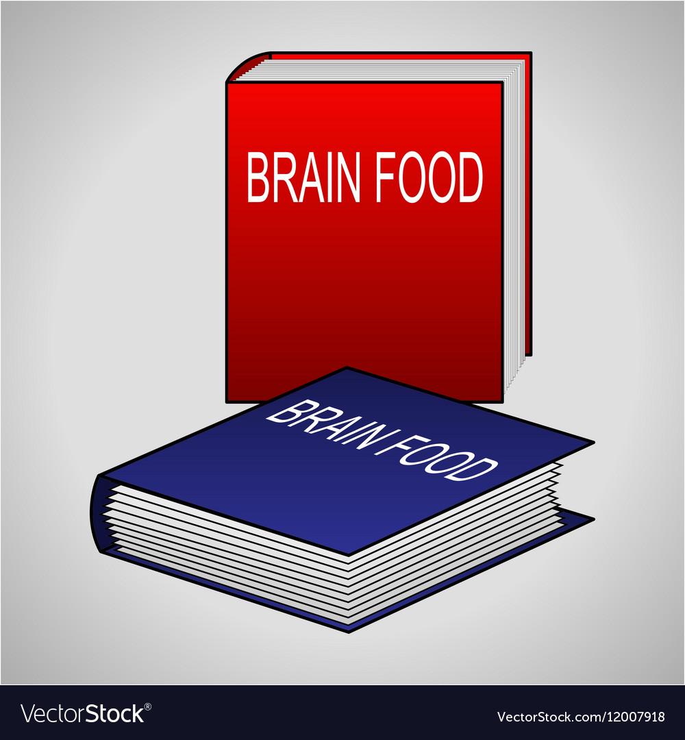 Book icon - Brain Food vector image