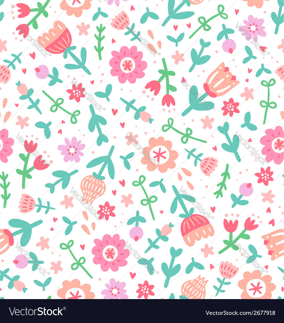 Colorful Floral Print Pattern Royalty Free Vector Image