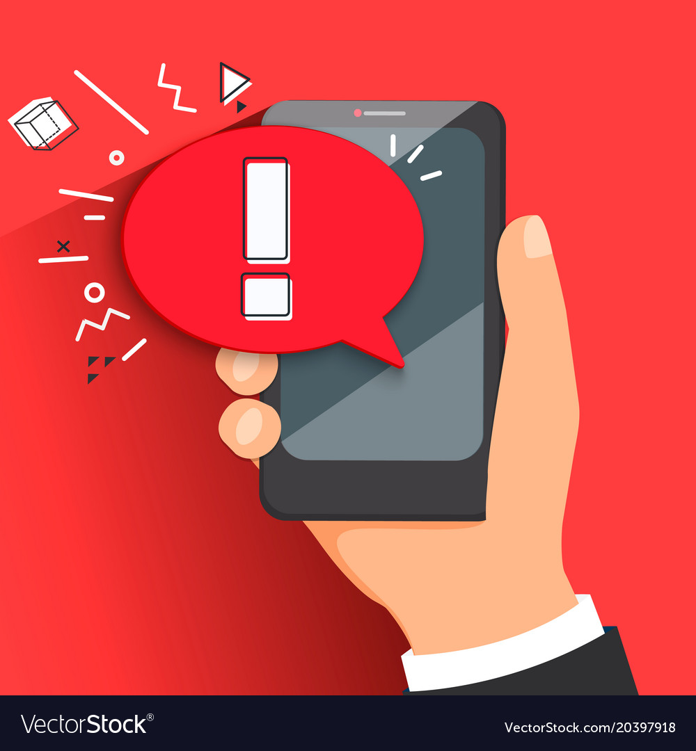 Concept of malware notification or error vector image