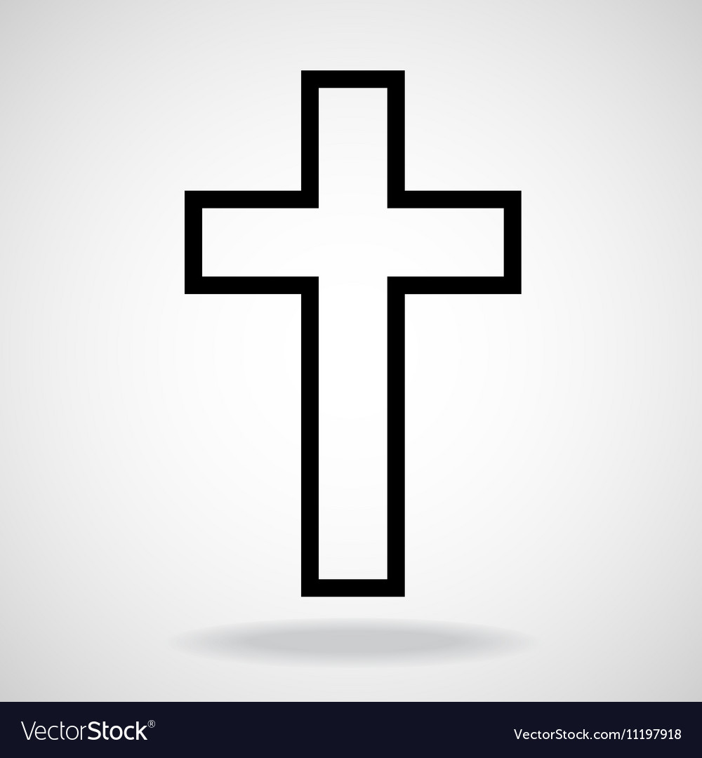 Cross painted brushes christian symbol abstract