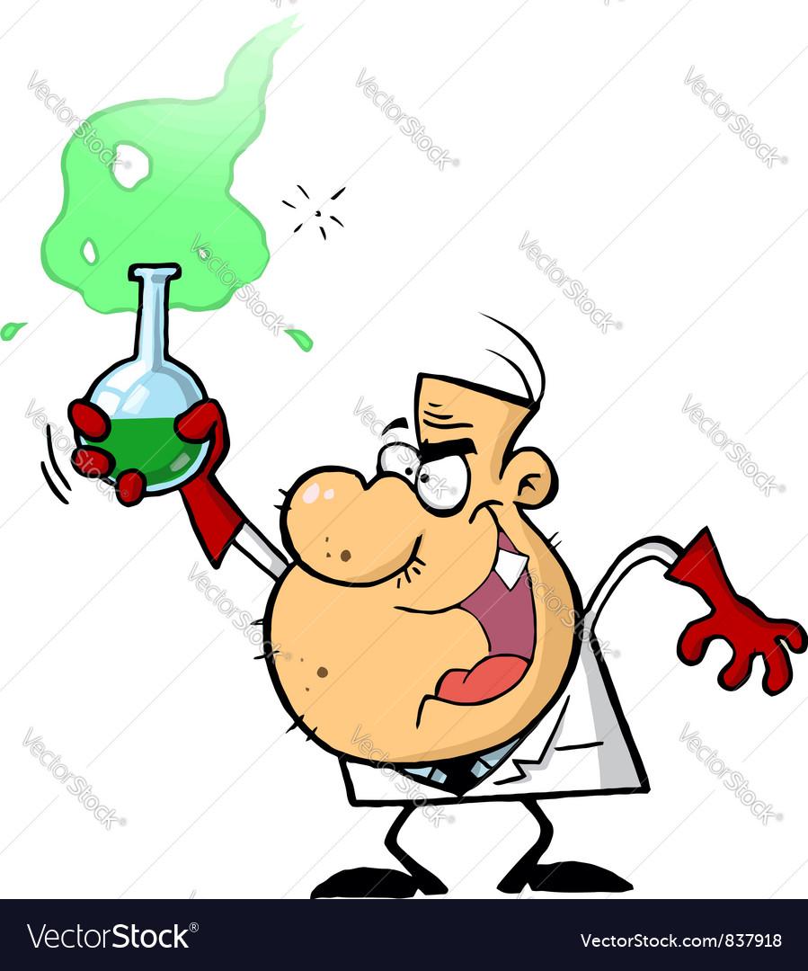 Mad Scientist Man vector image