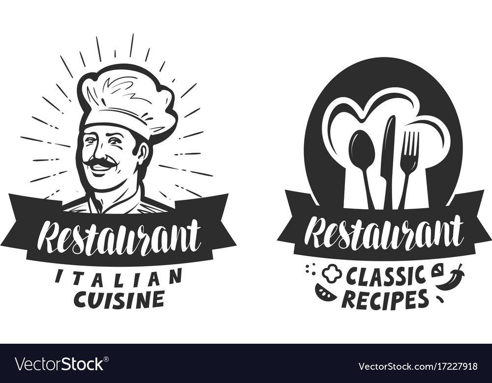 Restaurant logo eatery diner bistro label