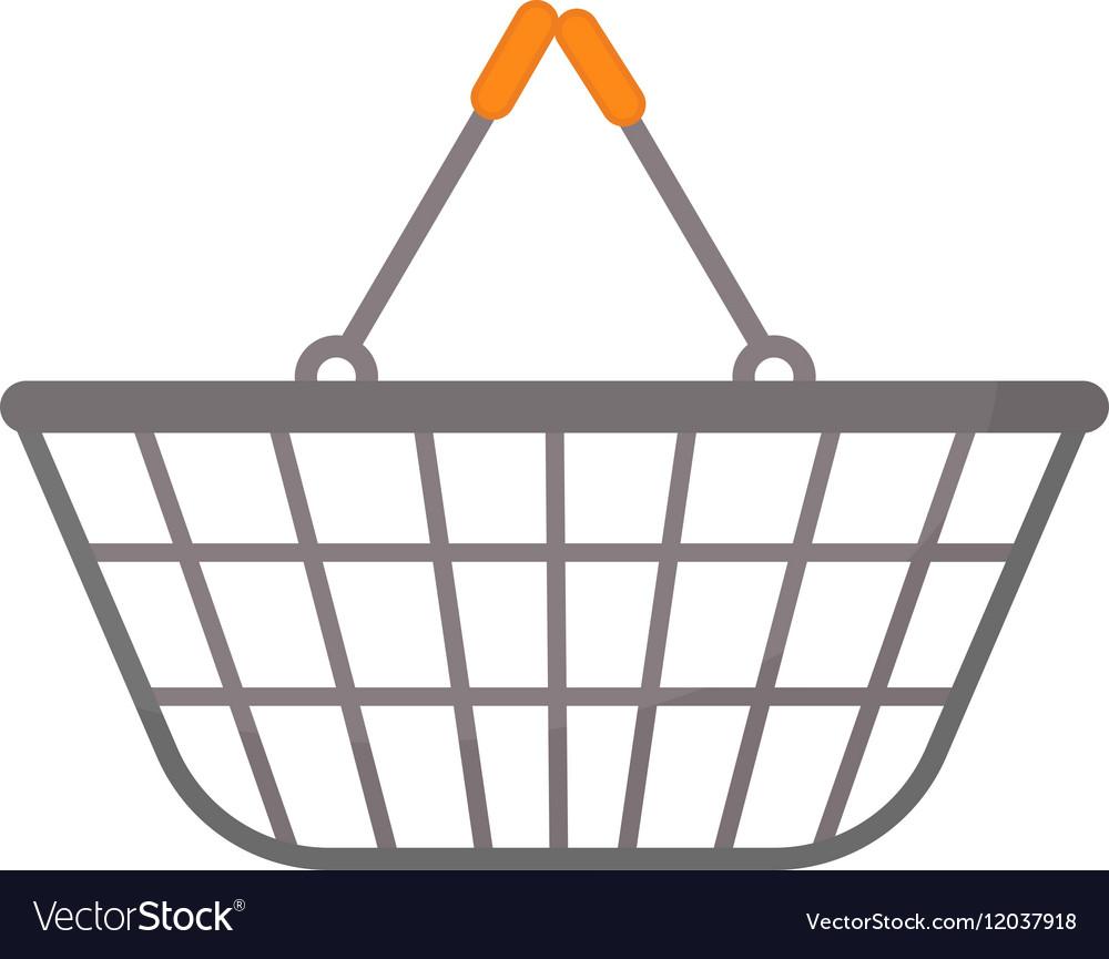 Shopping basket icon flat style isolated on white