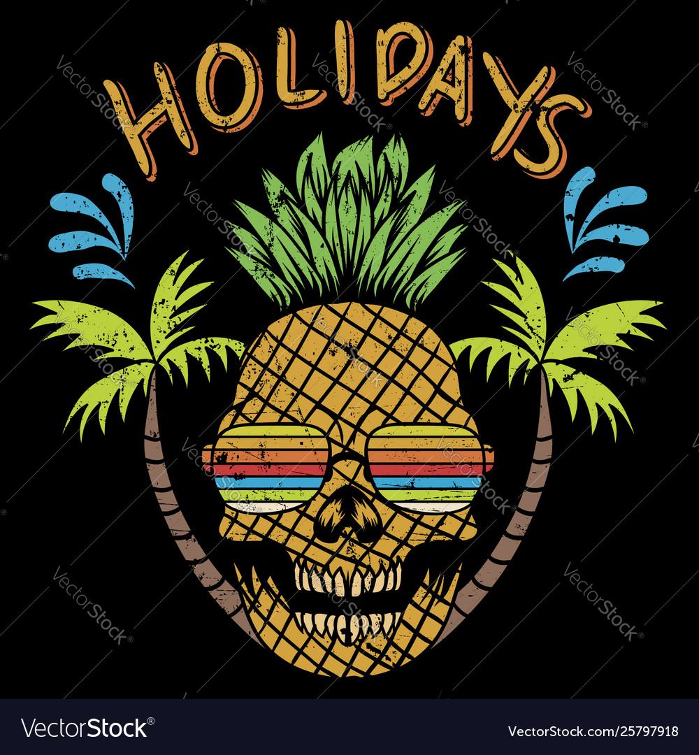 Skull pineapple holidays
