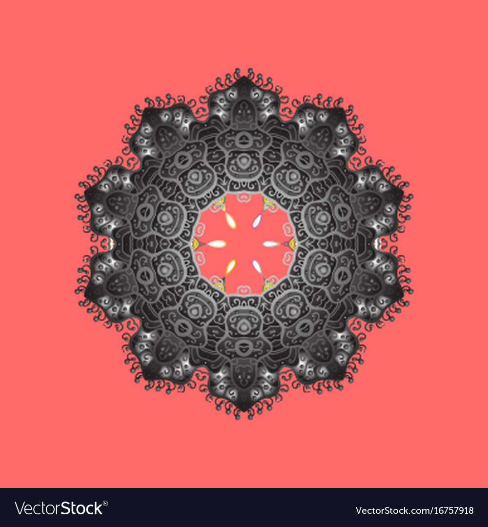 Symbol of winter snowflake winter isolated vector image