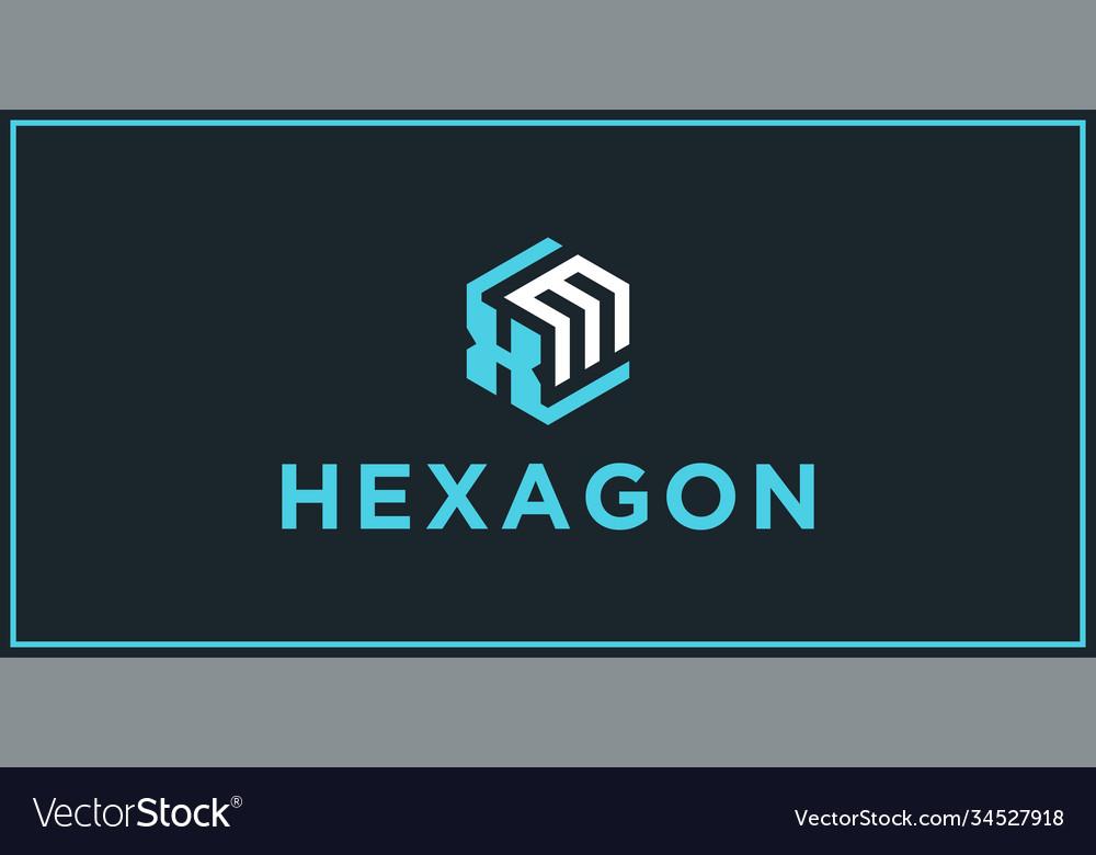 Xm hexagon logo design inspiration
