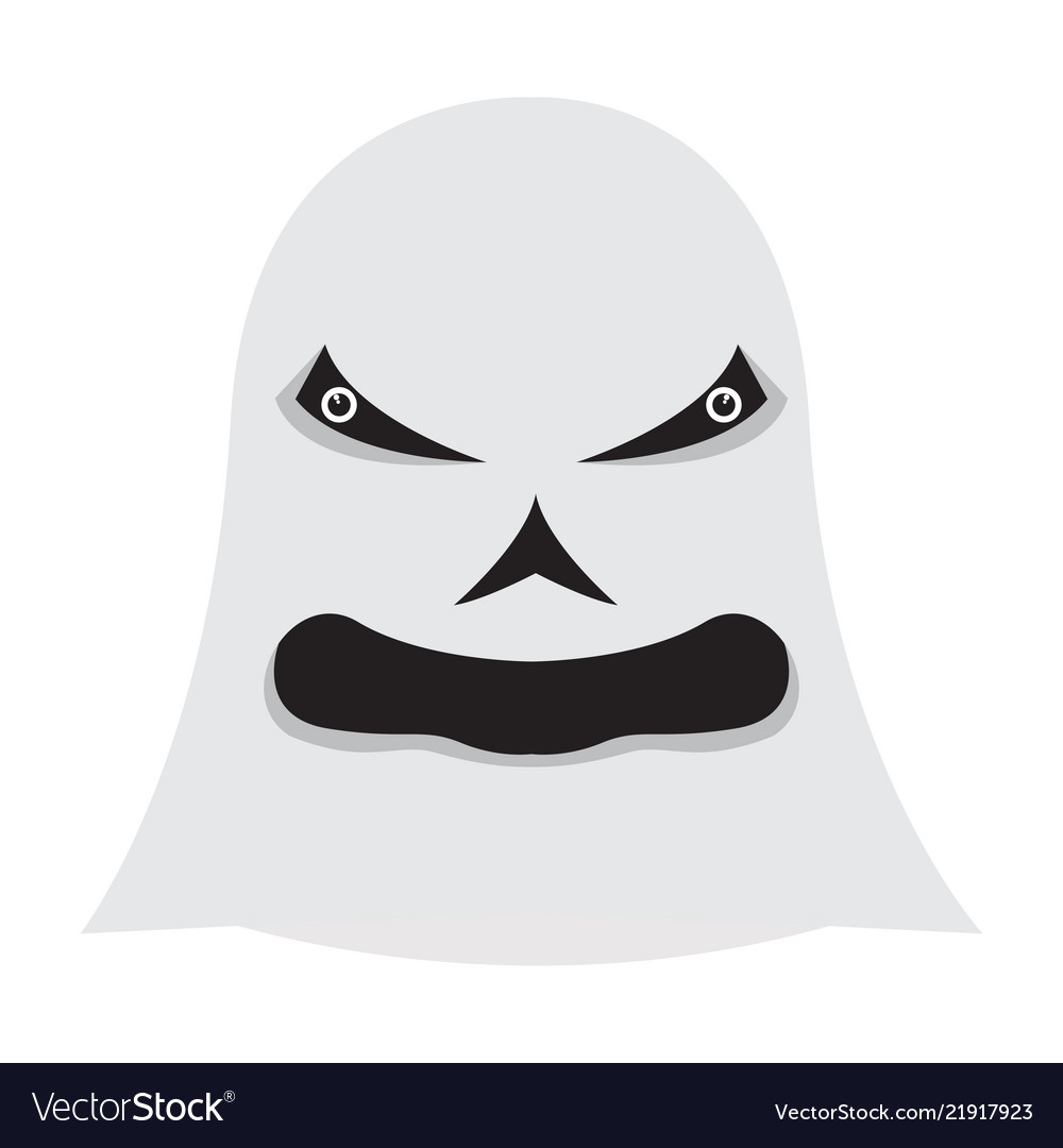 Angry halloween cartoon ghost avatar