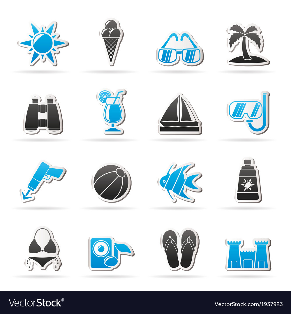 Beaches and summer icons
