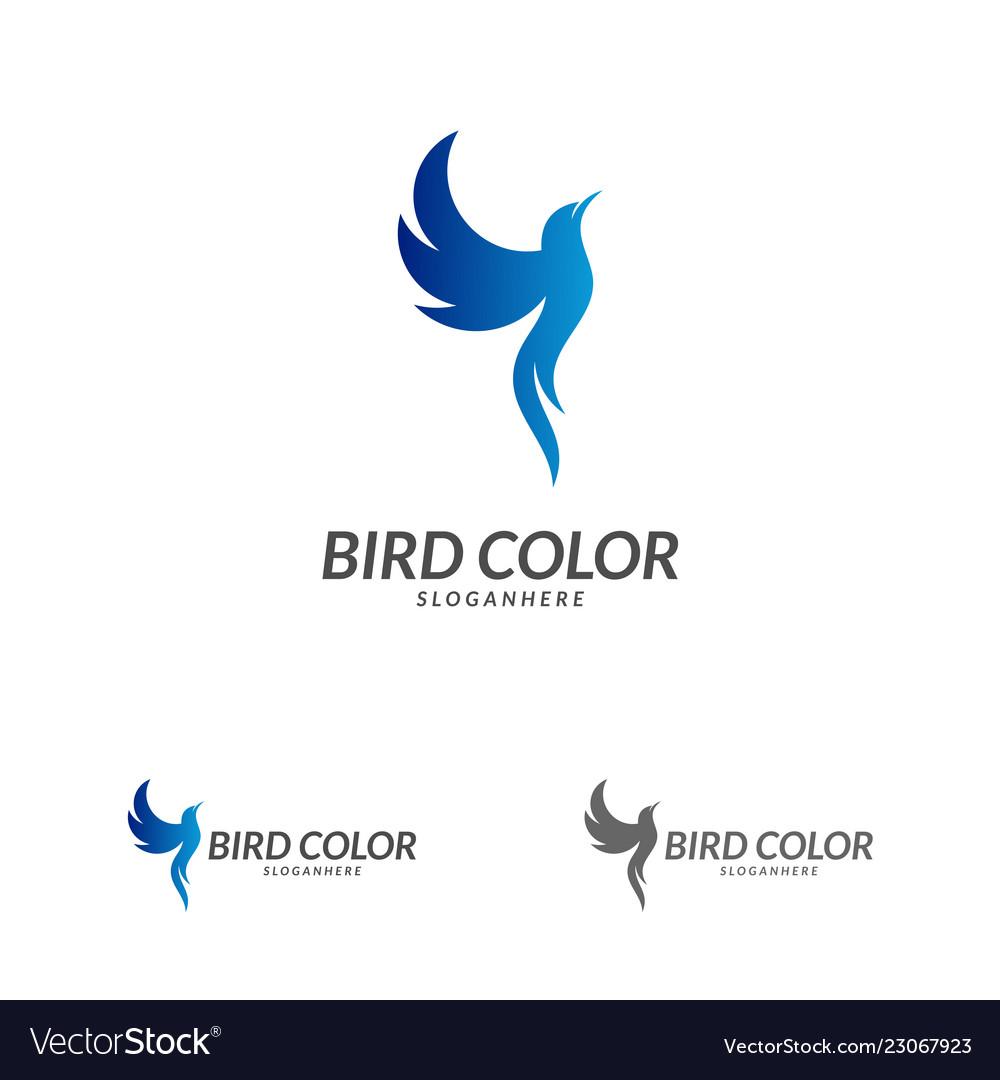 Bird logo flying bird logo design template dove