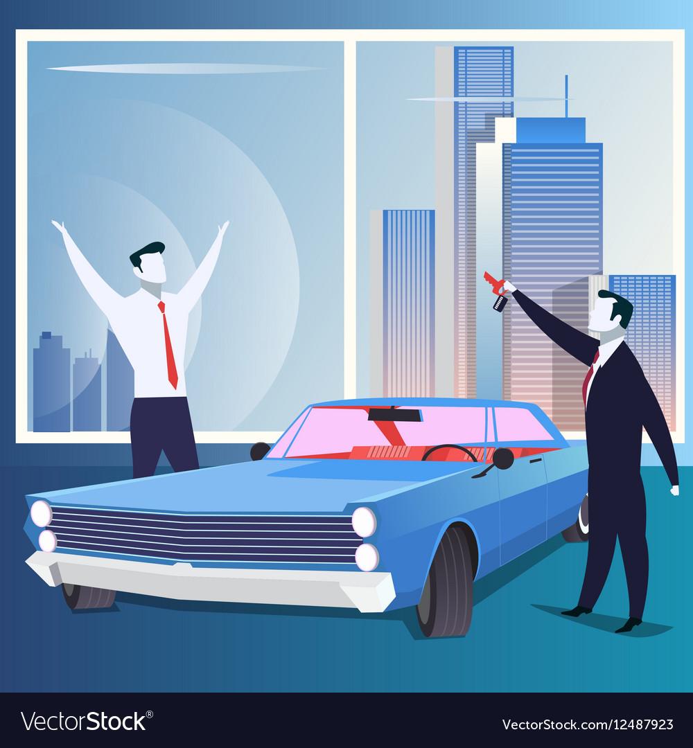 Business reward gift or car sale concept