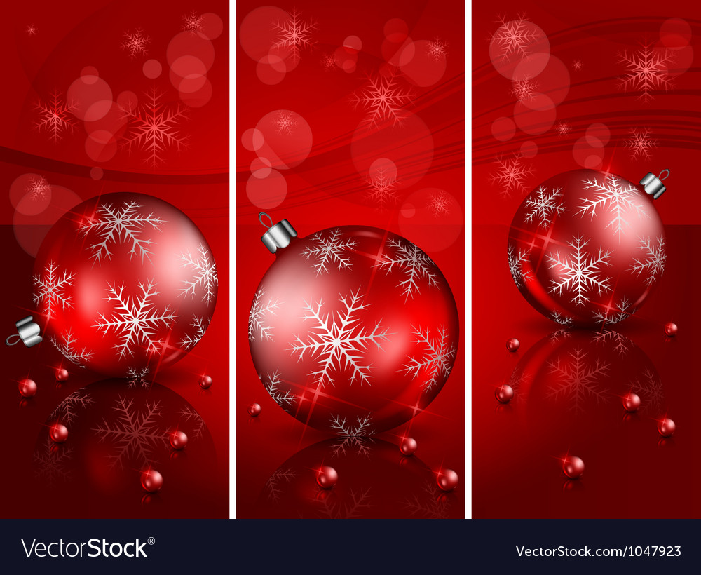 Christmas Red Balls Background 10 2 V Vector Image