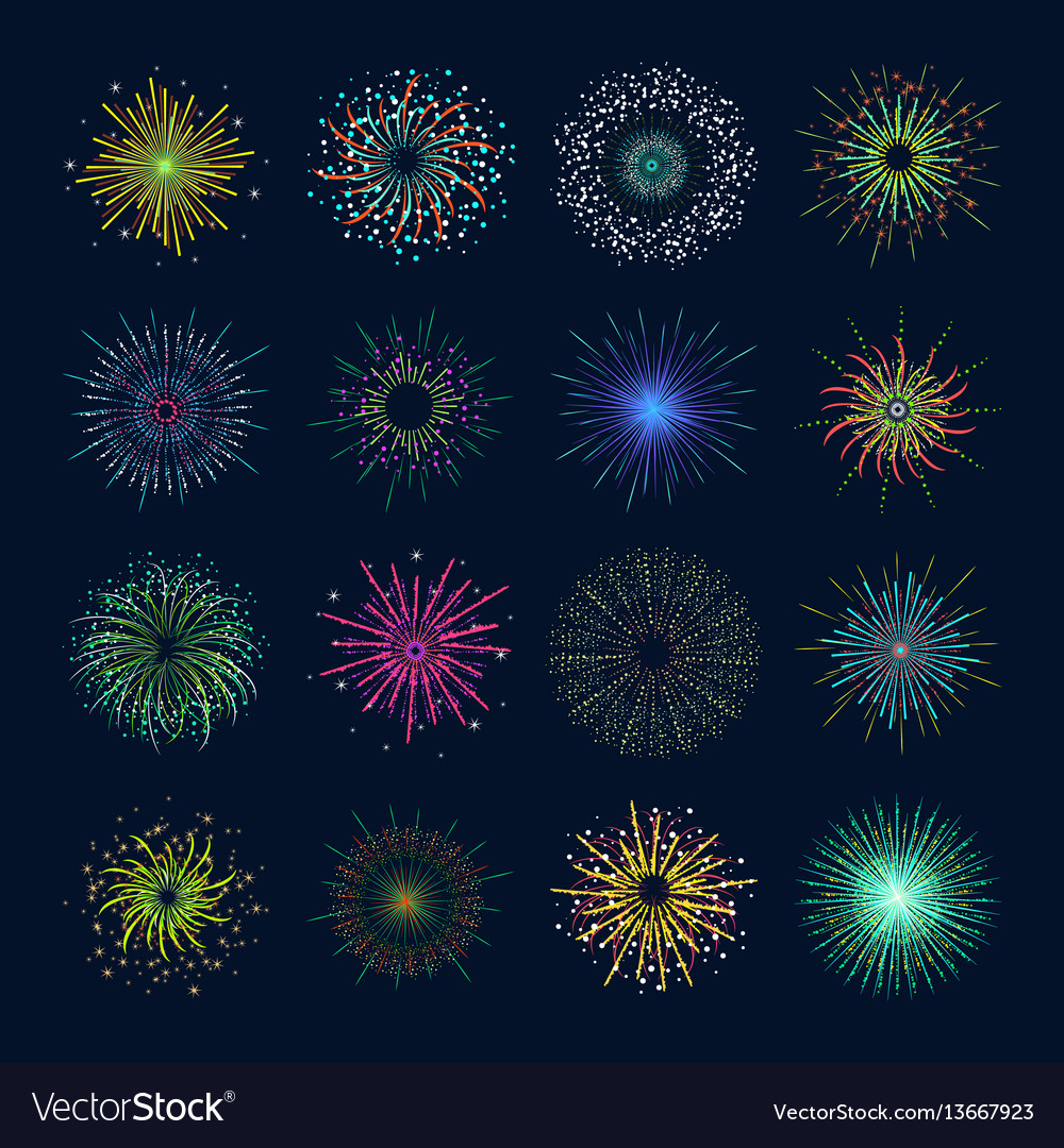 Color celebration fireworks set