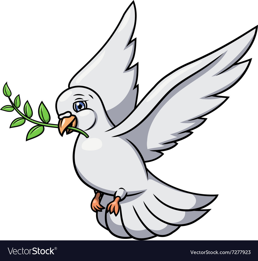 White dove flying with olive branch in its mouth | Dove flying, Dove  drawing, Dove pictures