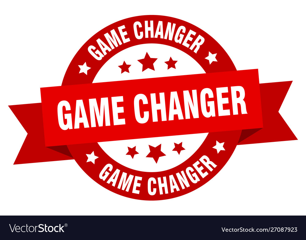 Game changer ribbon game changer round red sign