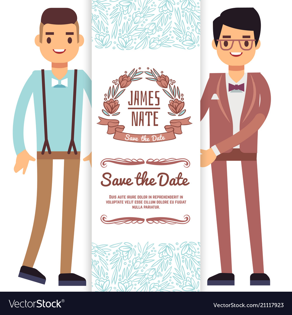 Gay wedding banner flyer or poster template