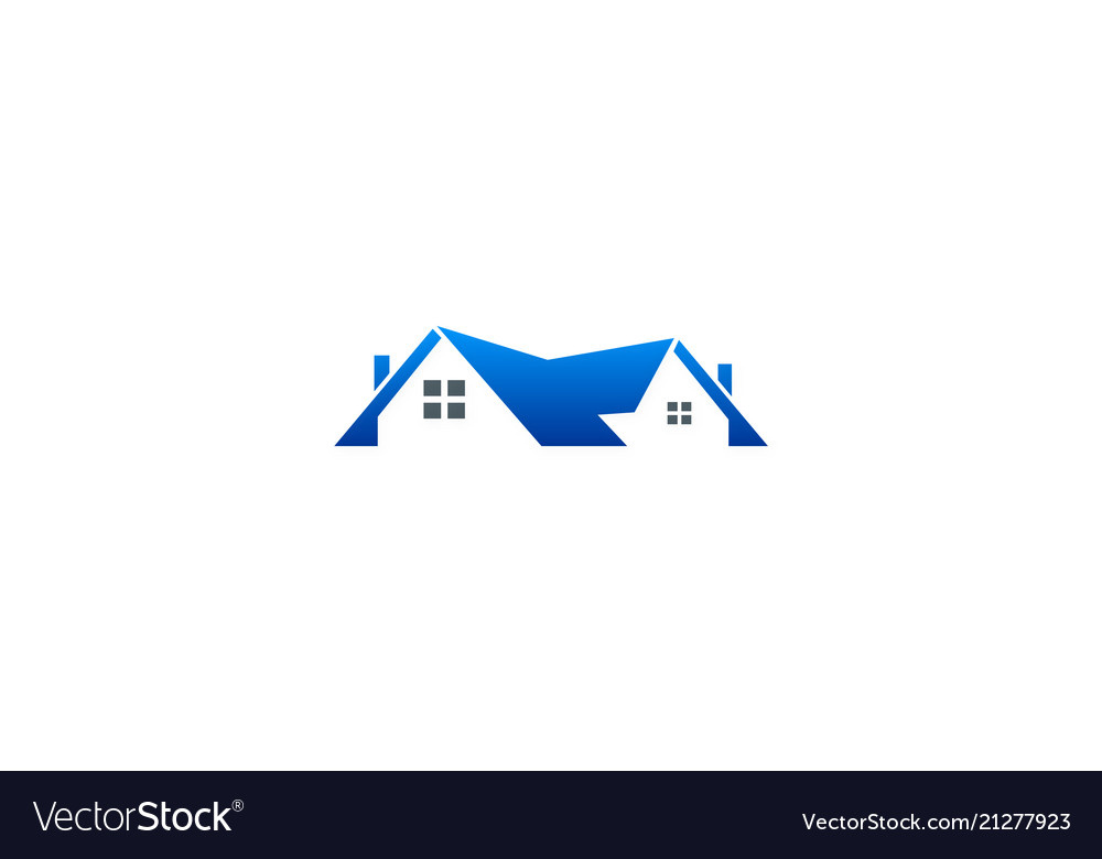 Home roof business logo