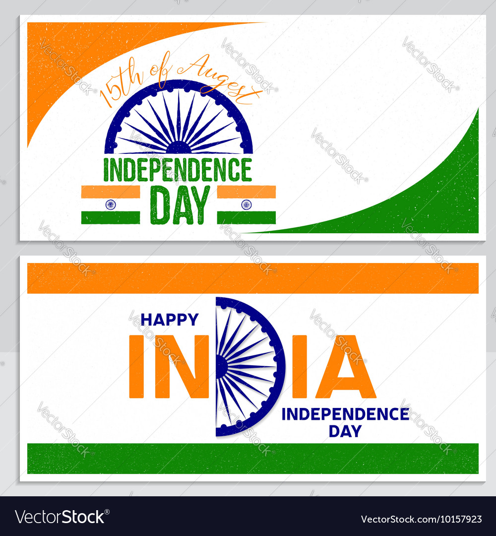 Indian independence day greeting card poster flyer indian independence day greeting card poster flyer vector image m4hsunfo