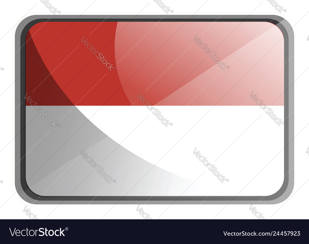 Indonesia flag on white background