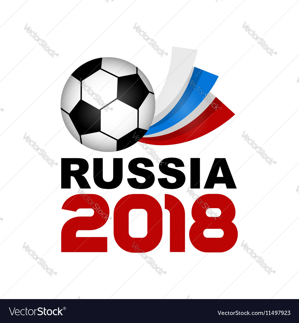 Logo football championship 2018 in russia