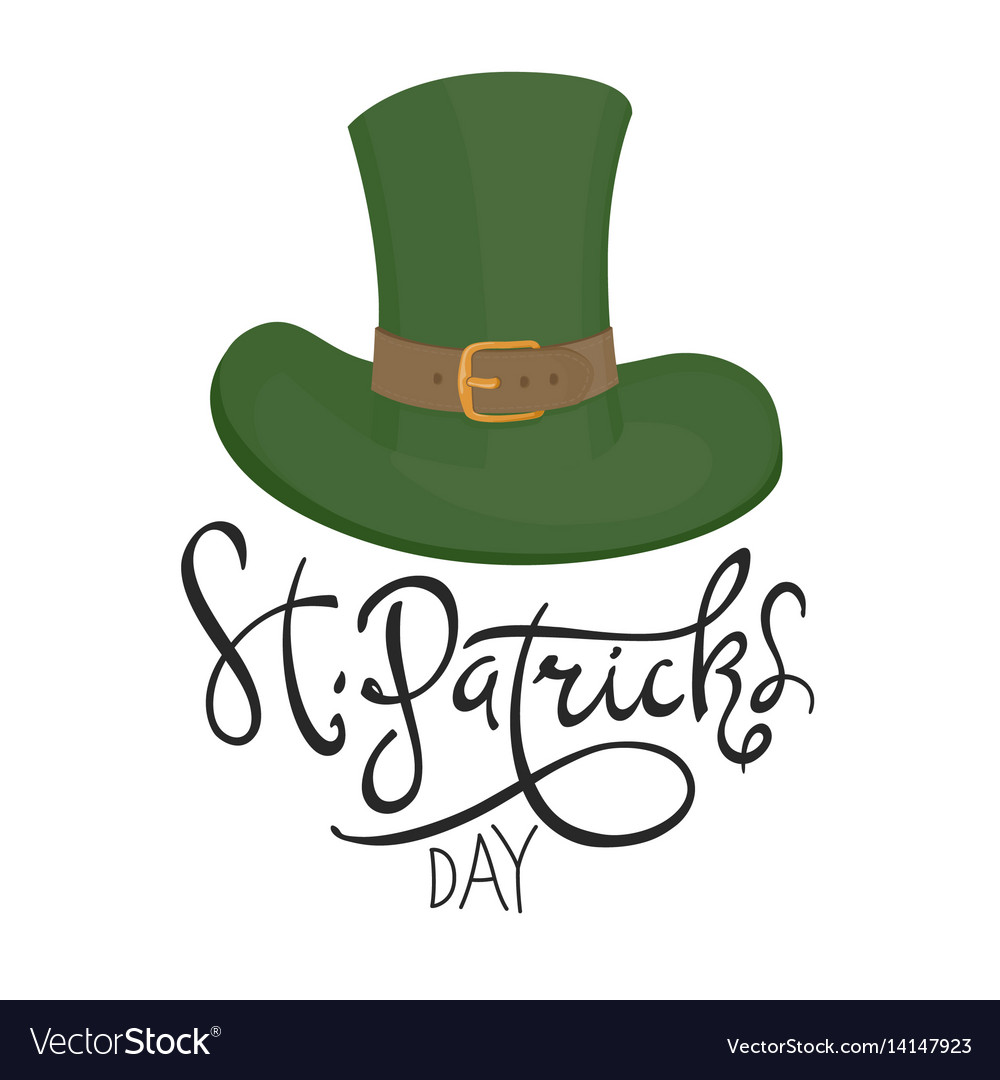 Saint Patricks Hat Symbol Celebration Design For Vector Image
