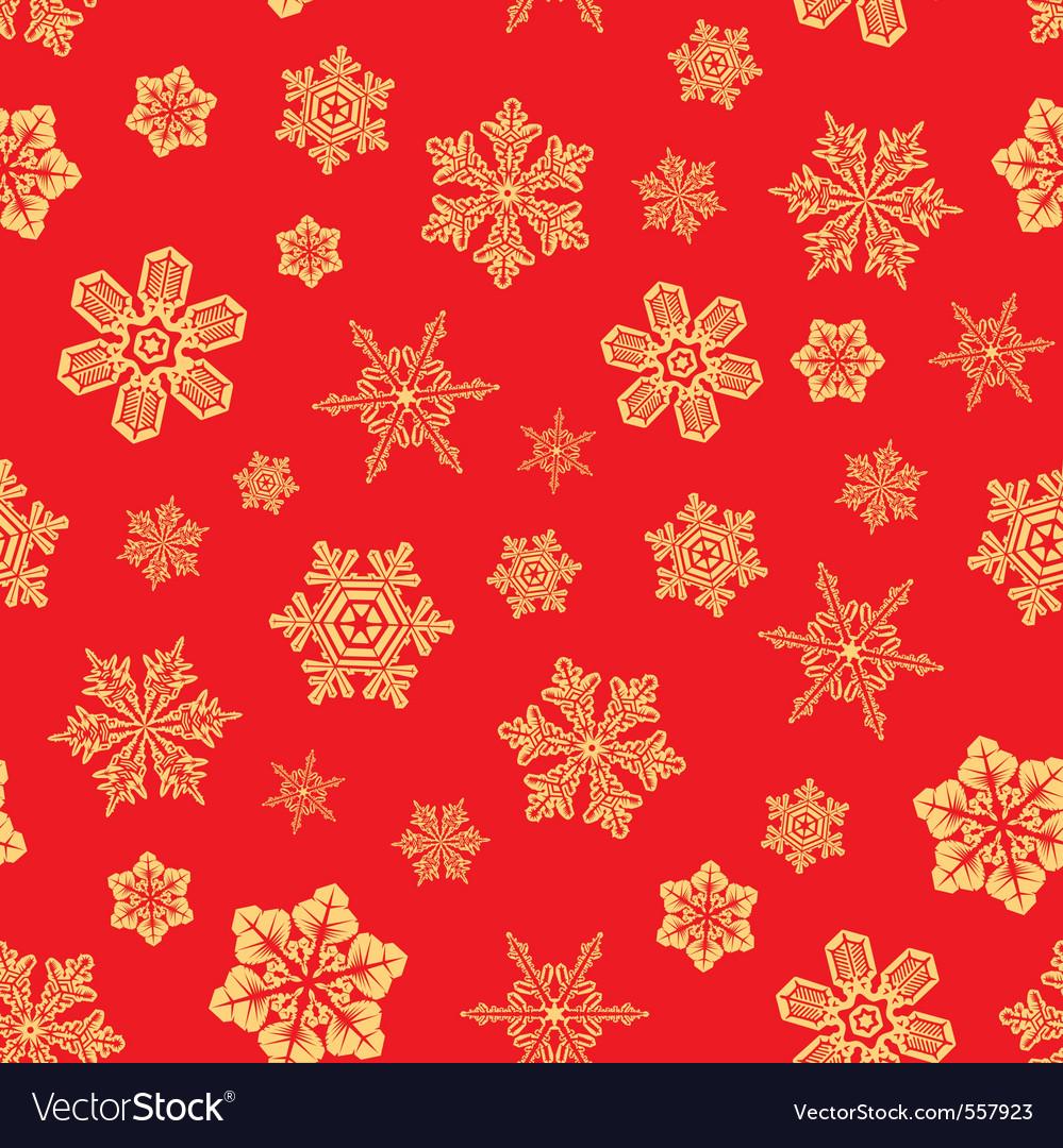 Seamless snwoflakes background vector image