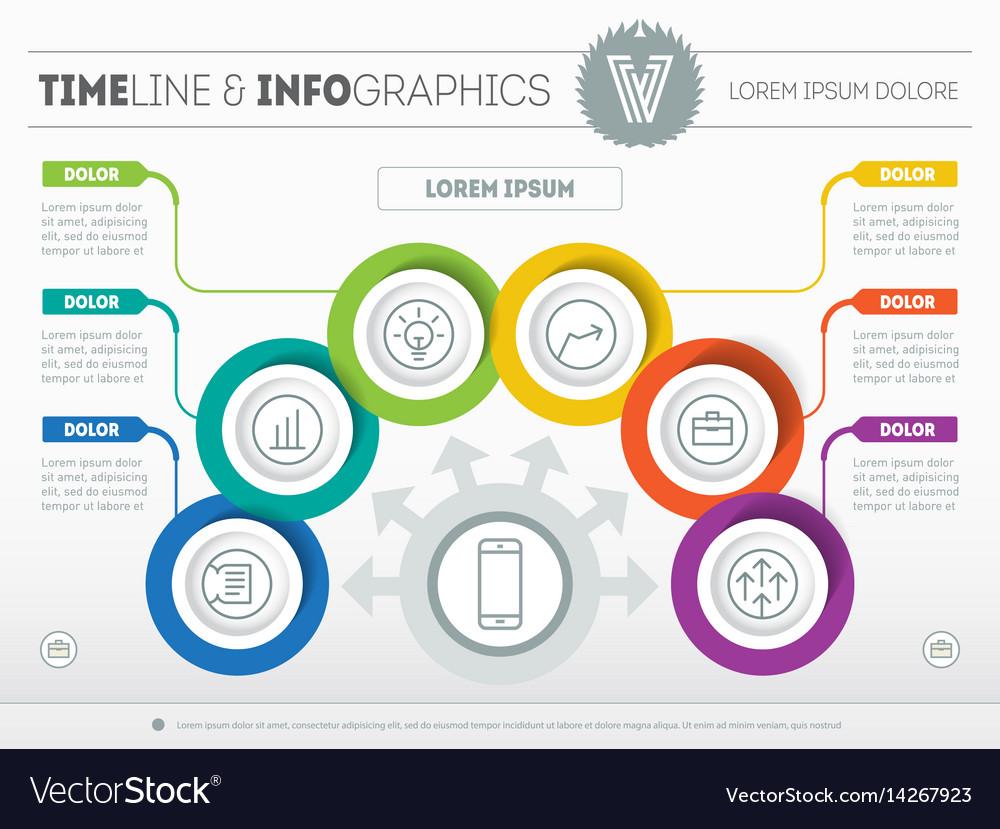Template of a infochart diagram or presentation vector image