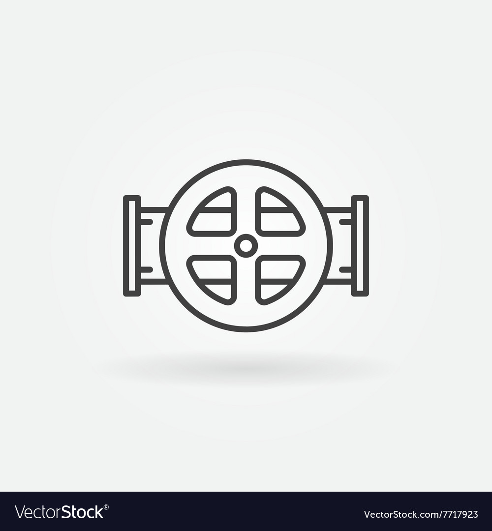 Water pipe icon vector image