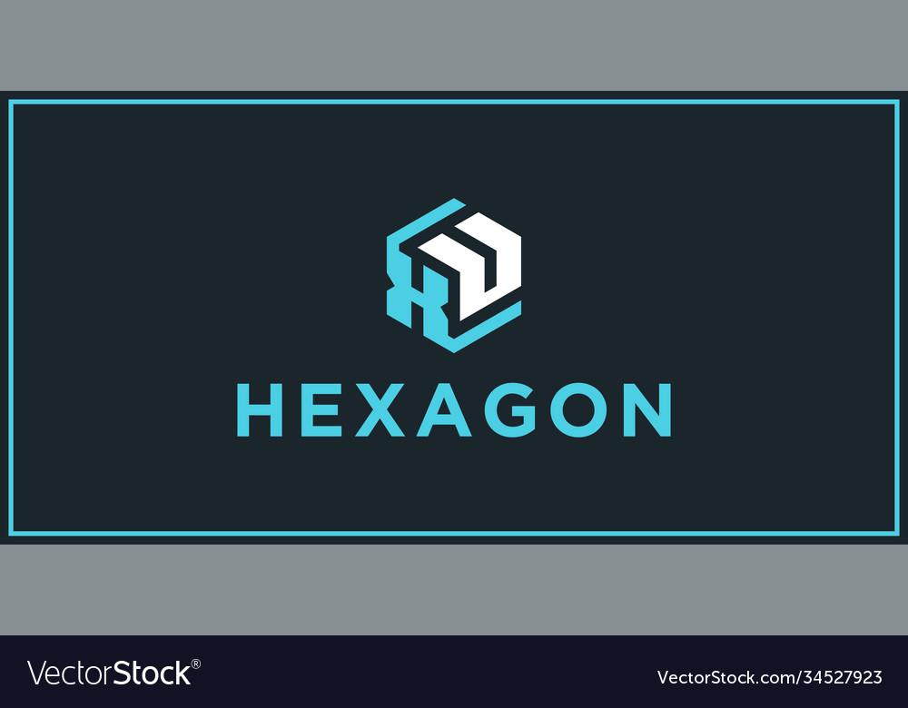Xu hexagon logo design inspiration